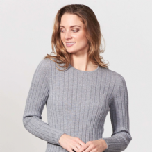 Wide Rib Jumper Light Pewter